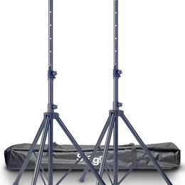 Кронштейны и стойки - STAGG SPS10-AL BK SET Комплект из 2-х алюминиевых стоек для акустических сис..., 0