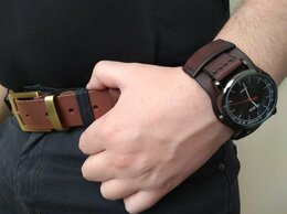 Ремешки для часов - Ремешок-напульсник для наручных часов кожаный.…, 0