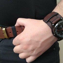 Ремешки для часов - Ремешок-напульсник для наручных часов кожаный. Ручная работа., 0