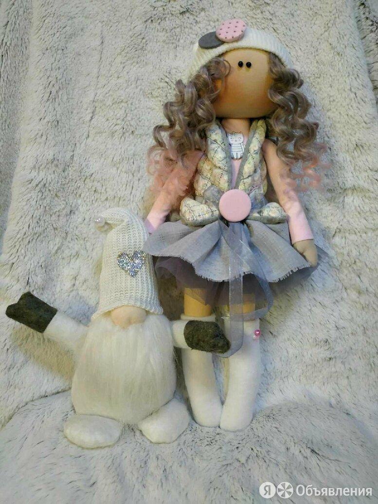 Интерьерная текстильная куколка по цене 2500₽ - Куклы и пупсы, фото 0