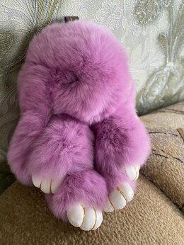 Другое - Меховой брелок кролик, 0