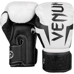 Перчатки для единоборств - Боксерские перчатки Venum Elite White Camo, 0