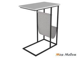 Столы и столики - Стол придиванный Бали в цвете Белый - Черный, 0