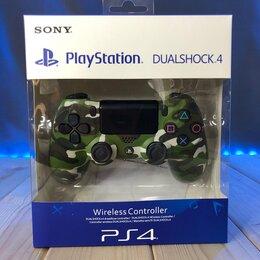 Рули, джойстики, геймпады - Геймпад (джойстик) для PS4 DualShock 4 v2 беспроводной (Green Camouflage), 0