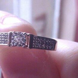 Кольца и перстни - Золотое кольцо 585 пробы с бриллиантами 17 размер , 0