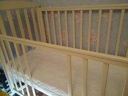 Кроватки - Кроватка из бука 120х60 Лютик. Матрас, 0