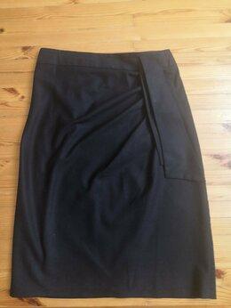 Юбки - Юбка черная с галстуком на поясе 44-46-48р., 0
