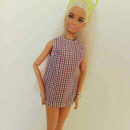 Аксессуары для кукол - Платье в клетку для Барби., 0