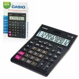 Калькуляторы - Калькулятор  настольный  CASIO GR-12  12 раз., черный, 210*155*35мм, двойное пит, 0