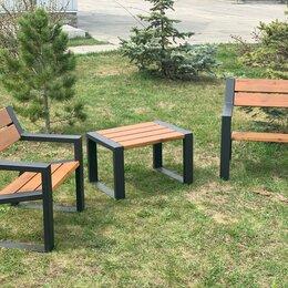 Комплекты садовой мебели - Комплект садово-парковой мебели «Street Cafe Mountain» 740 из термососны, 0