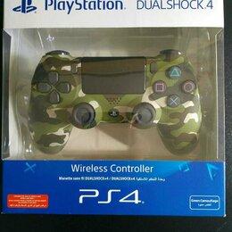 Аксессуары - Джойстик DualShock 4 v.2 зеленый камуфляж, 0