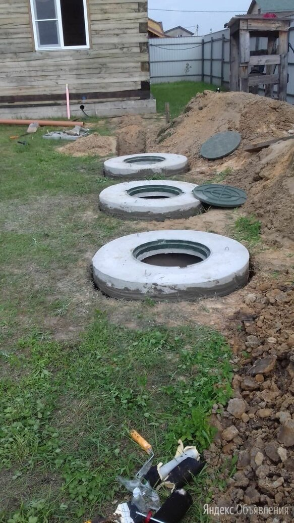 Копка септика из бетонных колец  по цене 3000₽ - Железобетонные изделия, фото 0