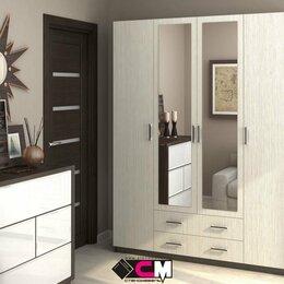 Шкафы, стенки, гарнитуры - Шкаф распашной четырехдверный Квадро с зеркалом, 0