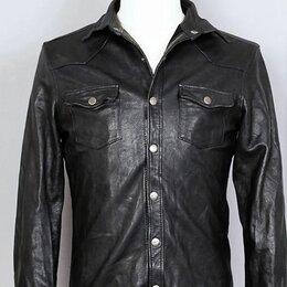 Рубашки - Кожаная натуральная мужская рубашка , 0