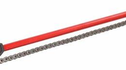 """Рожковые, накидные, комбинированные ключи - Двуконцевой двусторонний цепной трубный ключ 12"""", 0"""