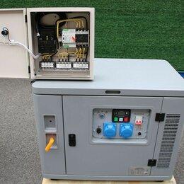 Электрогенераторы и станции - Бензогенератор 10 кВт АМПЕРОС LT11000S в шумозащитном кожухе с автозапуском, 0