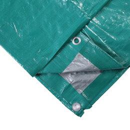 Тенты строительные - Тент защитный, 6 × 8 м, плотность 120 г/м², люверсы шаг 1 м, тарпаулин, УФ, з..., 0