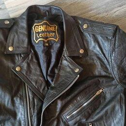 Мотоэкипировка - Кожаная байкерская куртка, 0