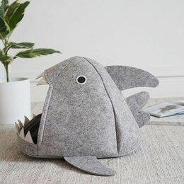 Лежаки, домики, спальные места - Домик войлочный «Акула» для кошек, 0