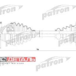 Трансмиссия  - PATRON PDS0255 Полуось правая 36x792x59,5 AUDI A3 03- \ SEAT LEON 05-, TOLEDO..., 0