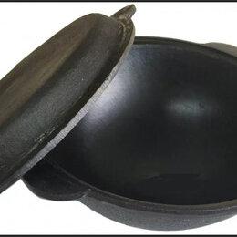 Сковороды и сотейники - Крышка сковородка чугунная 8 литров, 0