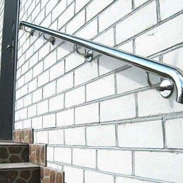 Лестницы и элементы лестниц - Пристенный поручень из нержавеющей стали, 0