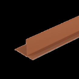 Сайдинг - Фасадный внутренний угол Дёке Каштановый 3,05м. (30 шт. в упак.), 0