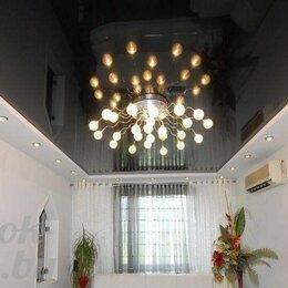 Потолки и комплектующие - Глянцевый коричневый потолок с установкой и профилем, 0