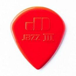 Музыкальные CD и аудиокассеты - Dunlop Jazz III Медиатор, острый кончик, нейлон, красный, 0