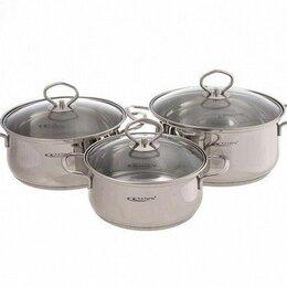Наборы посуды для готовки - Набор кастрюль Катунь Лира КТ-CP-003, 3,2л+4,2л+5,2л, 0