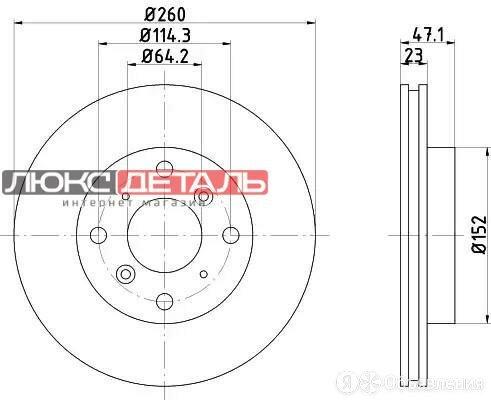 NISSHINBO ND8028K Диск тормозной  перед   по цене 2723₽ - Тормозная система , фото 0