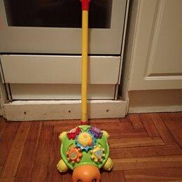 Развивающие игрушки - Игрушка каталка божья коровка с ручкой, 0