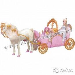 Аксессуары для кукол - Карета Girls club с функц. ходячей лошадкой, 0