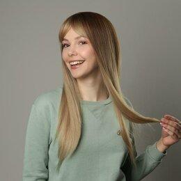 Аксессуары для волос - Queen fair Парик искусственный, с чёлкой, имитация кожи, 60 см, цвет русый/блонд, 0