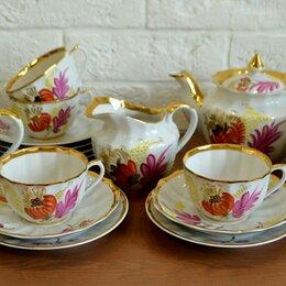 Сервизы и наборы - Чайный сервиз Пурпурный лист Вербилки. СССР, 0
