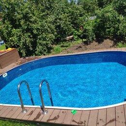 Бассейны - Каркасный бассейн ЛАГУНА 4,5 х 2,5 х 1,25 м овальный, 0