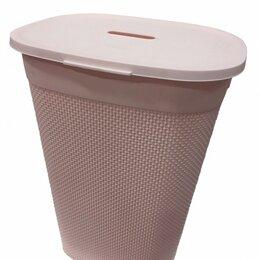 Корзины, коробки и контейнеры - Корзина для белья с крышкой Oslo 55л (43*34*60 см), лиловый PT1334ЛЛВ Plast team, 0