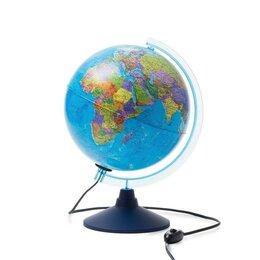 """Глобусы - Интерактивный глобус """"ДЕНЬ И НОЧЬ"""" с двойной картой с подсветкой 250мм INT125..., 0"""