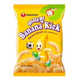 Продукты - Чипсы со вкусом банана Nongshim, 45 г, 0
