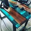 Стол-река из слэба и эпоксидной смолы по цене 35300₽ - Мебель для кухни, фото 1