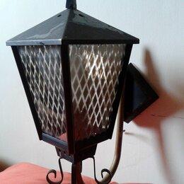 Ночники и декоративные светильники - светильник фонарь настенное бра c витражом, 0