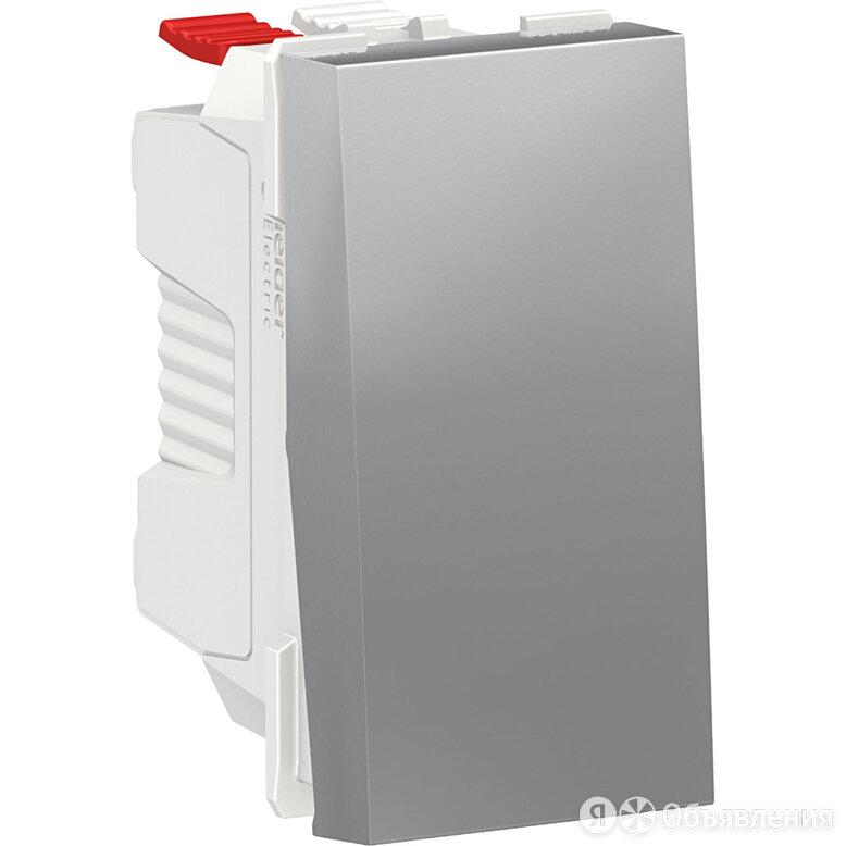 Выключатель-кнопка Schneider Electric Unica Modular без фиксации, 1 модуль. А... по цене 399₽ - Электрические щиты и комплектующие, фото 0