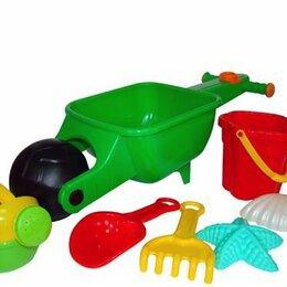 Конный спорт - Набор №337: тачка Малыш, ведро-цветок среднее №3, совок №10, грабли №10, форм..., 0