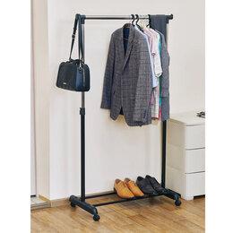 Витрины - Стойка напольная для одежды одна штанга, 0