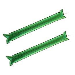 Палки - Палка «Болельщик», с палочкой для надувания, набор 2 шт., цвет зелёный, 0