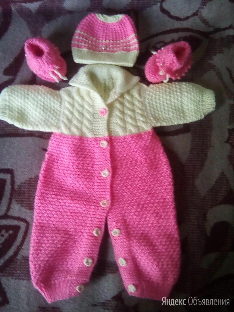 Комплект на малышку (комбинезончик,шапочка,пинетки) по цене 2000₽ - Комплекты, фото 0