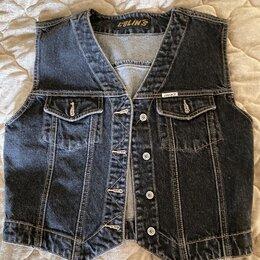 Жилеты - Безрукавка жилетка джинсовая Colins S, 0