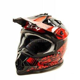 Спортивная защита - Шлем мото кроссовый GTX 632S (M) #2 BLACK / RED подростковый, 0