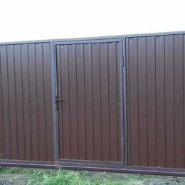 Заборы, ворота и элементы - Ворота откатные с калиткой, 0