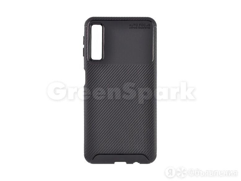 Чехол (накладка) Vixion карбон для Samsung A750F Galaxy A7 (черный) по цене 290₽ - Чехлы, фото 0